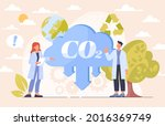 co2 reduction concept.... | Shutterstock .eps vector #2016369749