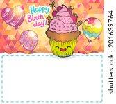 happy birthday greeting card... | Shutterstock .eps vector #201639764