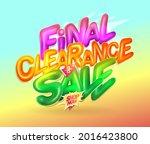 final clearance sale vector...   Shutterstock .eps vector #2016423800