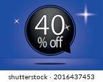 40 percent off black balloon... | Shutterstock .eps vector #2016437453