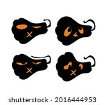 scary and funny halloween... | Shutterstock .eps vector #2016444953