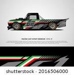 racing pickup truck wrap... | Shutterstock .eps vector #2016506000