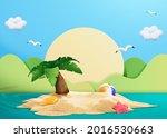 3d Illustration Of Small Island ...