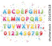 set of colored stickers... | Shutterstock .eps vector #201653618