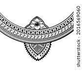 polynesian chest tattoo. redraw ... | Shutterstock .eps vector #2016569060