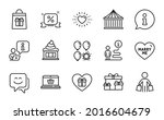 holidays icons set. included... | Shutterstock .eps vector #2016604679