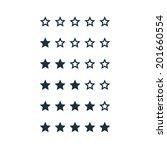 stars rating | Shutterstock .eps vector #201660554