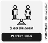 equal gender employment thin... | Shutterstock .eps vector #2016629360