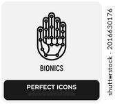 bionics thin line icon  robotic ... | Shutterstock .eps vector #2016630176