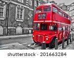 londoner red double decker... | Shutterstock . vector #201663284