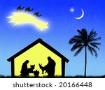 jesus birth in the stable to... | Shutterstock . vector #20166448