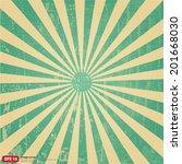 new vector vintage green rising ... | Shutterstock .eps vector #201668030