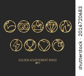 achievement rings. video game...
