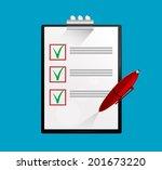 notebook and pen. vector eps 10 | Shutterstock .eps vector #201673220
