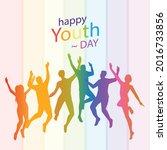 international youth day... | Shutterstock .eps vector #2016733856
