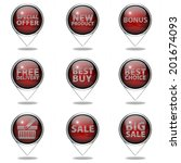 shop button set on white... | Shutterstock . vector #201674093