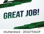 great job word concept vector...
