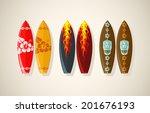 vector illustration of surf... | Shutterstock .eps vector #201676193