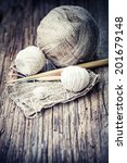 vintage knitting needles and... | Shutterstock . vector #201679148