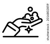 shiny foam hands icon. outline...   Shutterstock .eps vector #2016802859