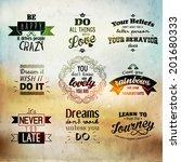 inspirational and encouraging... | Shutterstock .eps vector #201680333
