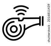 sport whistle icon. outline...   Shutterstock .eps vector #2016811439