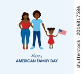 happy american family day...   Shutterstock .eps vector #2016817586