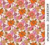 seamless pattern with bright... | Shutterstock .eps vector #2016835349