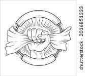 hand drawn line art independent ...   Shutterstock .eps vector #2016851333