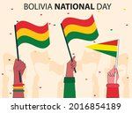 bolivia national day 6 august...   Shutterstock .eps vector #2016854189
