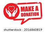 grunge vintage make a donation...   Shutterstock .eps vector #2016860819