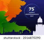 75th independence day of india... | Shutterstock .eps vector #2016870290