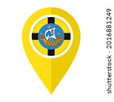 flat map marker icon with...   Shutterstock .eps vector #2016881249