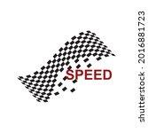 race flag icon  simple design...   Shutterstock .eps vector #2016881723