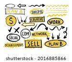 business doodle design vector... | Shutterstock .eps vector #2016885866