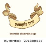 colored medieval tape in pastel ...   Shutterstock .eps vector #2016885896