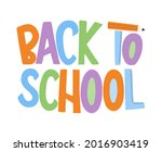 back to school hand drawn...   Shutterstock .eps vector #2016903419
