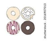 hand drawn donuts illustrations.... | Shutterstock .eps vector #2016907013