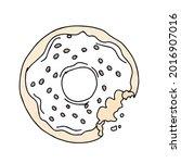 hand drawn donuts illustrations.... | Shutterstock .eps vector #2016907016