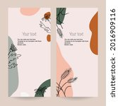a set of botanical stretched... | Shutterstock .eps vector #2016909116