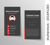 modern simple business card... | Shutterstock .eps vector #201691283