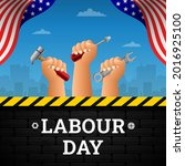 happy labour day background...   Shutterstock .eps vector #2016925100
