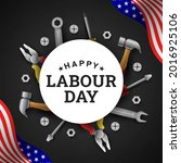 happy labour day background...   Shutterstock .eps vector #2016925106