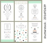 retro collection of wedding...   Shutterstock .eps vector #201692639