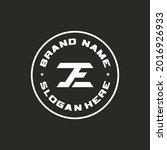 initial letter je logo design...   Shutterstock .eps vector #2016926933