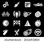 racing icons | Shutterstock .eps vector #201692804