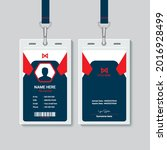 creative office staff id card...   Shutterstock .eps vector #2016928499