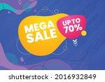 mega sale banner and poster.... | Shutterstock .eps vector #2016932849