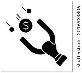 money glyph icon. hand holds...   Shutterstock .eps vector #2016933806
