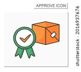 approved product color icon....   Shutterstock .eps vector #2016937676